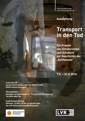 Plakat Transport in den Tod